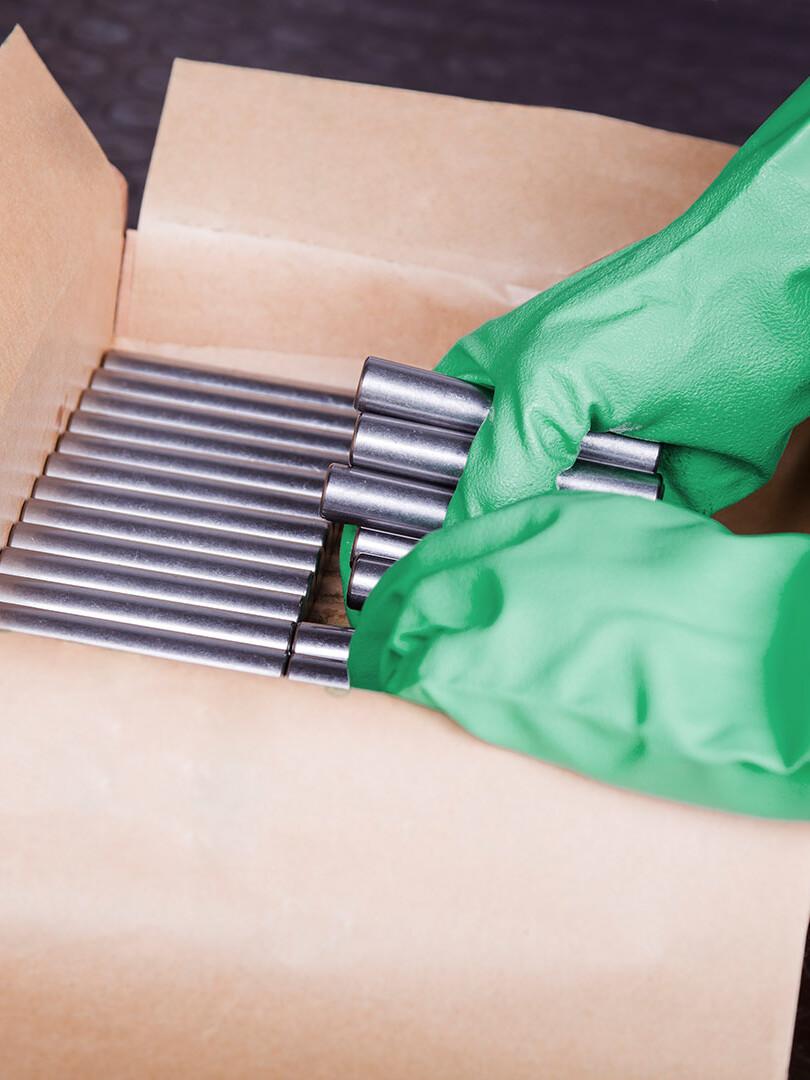 Paraffinpapier Verpackung VCI Papier Nawrot AG Produktübersicht Expertenwissen VCI-Korrosionsschutz NO-CORRO®