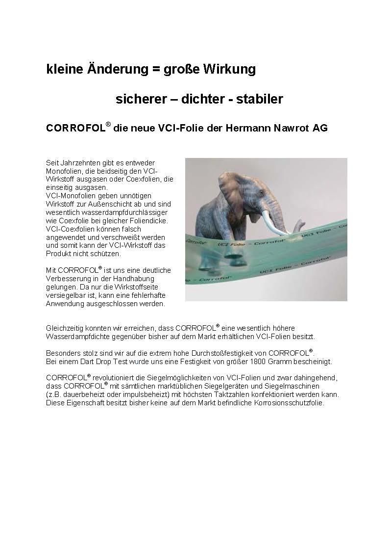 Downloads Pressetext Corrofol Nawrot AG